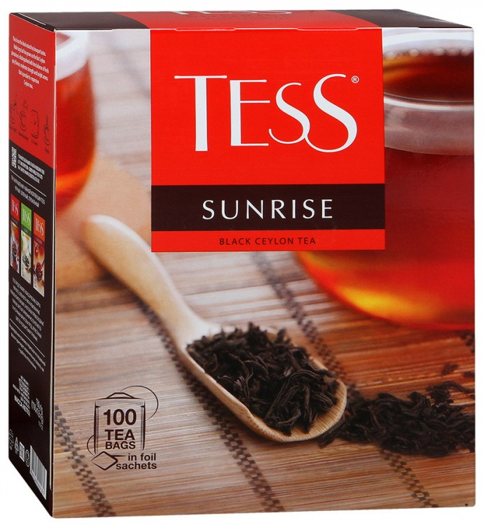 Чай черный TESS Tess Sunrise 100*2г