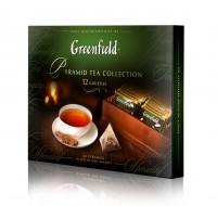 Чай GREENFIELD Pyramid Tea Collection 12 видов 50*1,8г и 10*2г