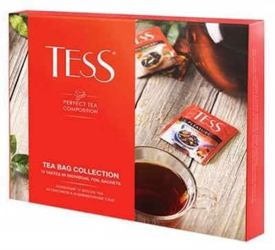 Чай TESS Tea Bag Collection набор 12 сортов 60 пак